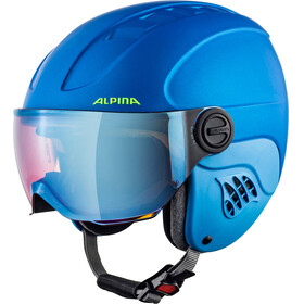 Alpina Carat LE Visor HM Helmet Kids blue-neon-yellow matt